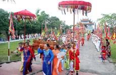 越南河南省独特且丰富多彩的领江庙会