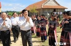 越南国家主席张晋创莅临嘉莱省调研