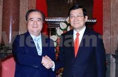 越南国家主席张晋创会见日本茨城县知事桥本昌