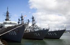 日本三艘海军军舰访问菲律宾