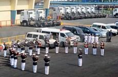 越南海军舰艇编队首次访问菲律宾