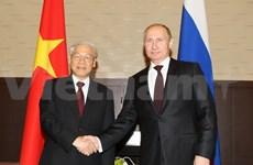 俄媒高度评价越共中央总书记阮富仲与俄罗斯总统普京的会谈结果
