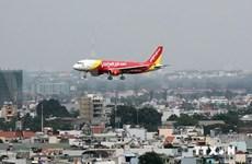 """越捷航空公司推出胡志明市至台湾台北""""0越盾""""起的优惠票价"""