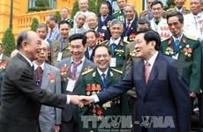 越南国家主席张晋创会见95号团联络委员会代表团