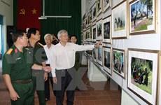 越南人民军力量绘画雕像和艺术图片展在西宁省举行