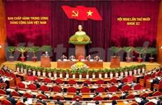 越共第十一届中央委员会第十次会议第一天