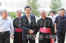 越南国家主席张晋创赴安江省调研