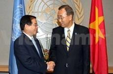 国家主席阮明哲会见国际友人