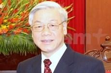 阮富仲总书记开始对老挝进行正式友好访问