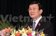 第十三届国会第一次会议:张晋创同志当选越南国家主席
