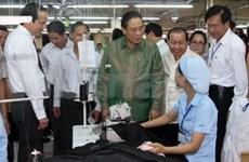 老挝高级代表团访问越南圆满结束