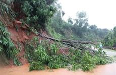 组图:第九号台风袭击  对越南南中部地区各省造成巨大损失