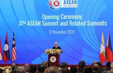 组图:越共中央总书记、国家主席 阮富仲出席第37届东盟峰会开幕式