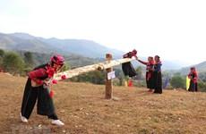 """组图:奠边省哈尼族同胞喜迎浓郁色彩的""""湖事茶""""传统春节"""