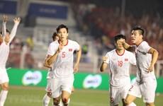 组图:越南队以3比0击败印尼队 首次夺得东运会男足冠军