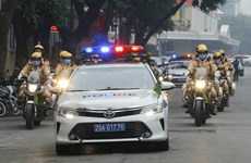 组图:2021年交通安全年出征仪式在河内举行