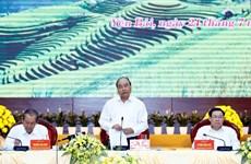 阮春福主持召开越共十三大经济社会小组与北部山区各省的工作会议