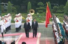 柬埔寨首相洪森开始对越南进行正式访问