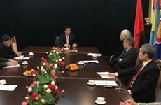 越南驻乌克兰大使阮鸿石会见旅居乌克兰越南人协会代表