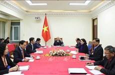 越南政府总理阮春福与美国总统特朗普通电话
