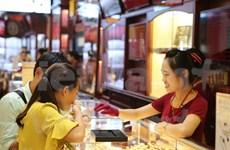 今日上午越南国内市场黄金价格每两上涨15万越盾