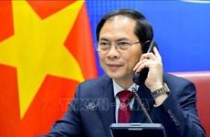 越南外交部部长裴青山与中国国务委员兼外交部部长王毅通电话