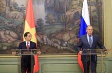 越南外交部长裴青山对俄罗斯进行正式访问