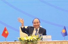 组图:越南政府总理阮春福就第37届东盟峰会结果召开新闻发布会