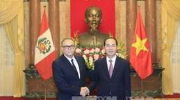 越南国家主席陈大光会见前来递交国书的6国新任驻越大使(组图)