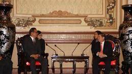 胡志明市领导会见密克罗尼西亚联邦议会代表团
