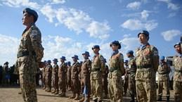 越南野战医院参加在南苏丹举行的联合国日庆祝活动