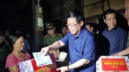 政府副总理王廷惠走访慰问广平和河静两省洪灾受灾群众