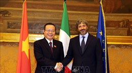 越南国会副主席冯国显与意大利众议院领导举行工作会谈