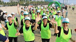 """岘港举办""""为了儿童安全""""马拉松比赛"""