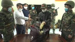 河静省边防部队抓获一名从老挝贩运毒品入境越南的犯罪嫌疑人