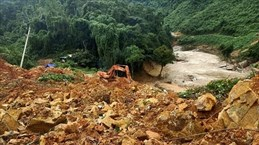 捞庄三号水电站山地区体滑坡事件:七具尸体被挖出