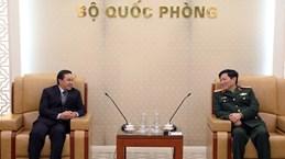 越南国防部长吴春历大将会见老挝驻越大使