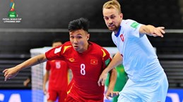 立陶宛2021国际足联室内五人制足球世界杯:越南队1-1战平捷克队晋级淘汰赛