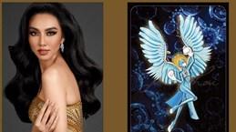 """2021年万国小姐选美大赛国服秀:越南代表选择了一件名为""""天使""""的国服服装"""