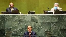越南国家主席阮春福在第76届联合国大会一般性辩论上发表重要演讲