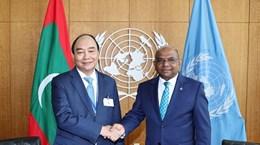 阮春福主席会见第76届联合国大会主席和联合国秘书长