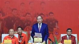 阮春福总理:越南U22男足和国家女足荣获冠军为祖国增添光彩