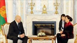 越南国会主席阮氏金银会见白俄罗斯共和国总统