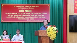 居住地选民同意推荐越共中央宣教部部长阮仲义为新一届国会代表候选人