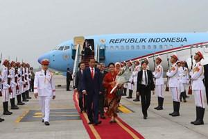 印度尼西亚总统开始对越南进行国事访问(组图)