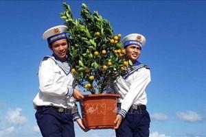 越南海军第三代表团向长沙群岛西礁干部和战士送去年货(组图)