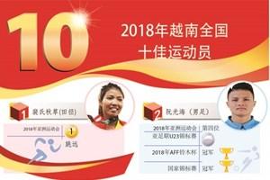 图表新闻:2018年越南全国十佳运动员