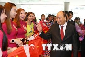 阮春福抵达新加坡出席第33届东盟峰会(组图)