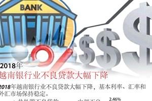 图表新闻: 2018年越南银行业不良贷款大幅下降