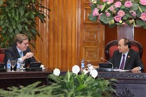 越南政府总理阮春福会见欧洲议会渔业委员会代表团